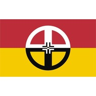 Vlag Native American Healing vlag