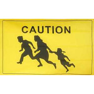 Vlag Caution Opletten vlag