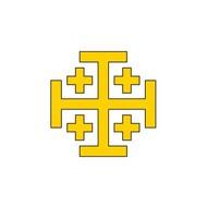 Vlag Latin Kingdom of Jerusalem flag