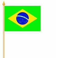 Stok- / zwaai-vlag Brazil vlag hand stok zwaaivlag