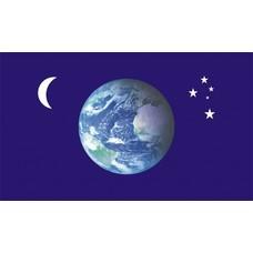 Vlag Aarde Earth Moon Stars vlag
