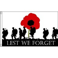 Vlag Lest We Forget Flag British Forces Remembrance Day Poppy