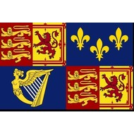 Vlag Royal Standard of Great Britain under the House of Hanover from 1714 to 1800