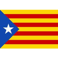 Vlag Catalan separatism flag Estelada Blava