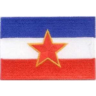 Patch Joegoslavie vlag patch met ster