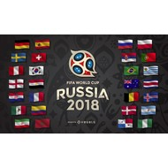 Vlag Russia World Cup 2018 all 32 country flags