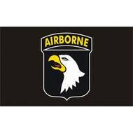 Vlag 101st Airborne flag Band of Brothers USA black