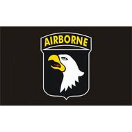 Vlag 101st Airborne flag zwart