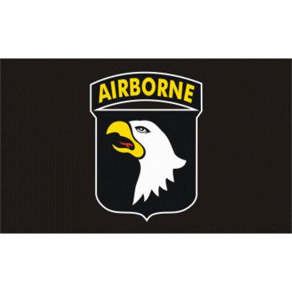 Vlag 101st Airborne vlag zwart