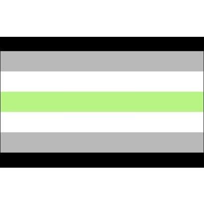 Vlag Agender pride vlag
