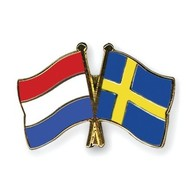 Speldje Nederland Zweden vlag Vriendschapsspeldje