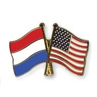 Speldje Nederland USA vlag Vriendschapsspeldje
