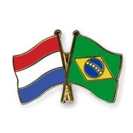 Speldje Nederland - Brazil vlag Vriendschapsspeldje