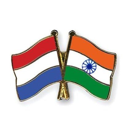 Speldje Nederland India vlag Vriendschapsspeldje
