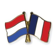 Speldje Nederland Frankrijk vlag Vriendschapsspeldje