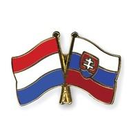 Speldje Nederland Slowakije vlag Vriendschapsspeldje