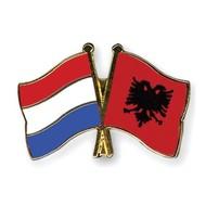 Speldje Nederland Albanie vlag Vriendschapsspeldje
