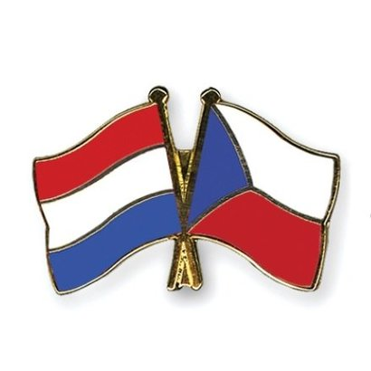 Speldje Netherlands Tsjechie flag Friendship lapel Pin