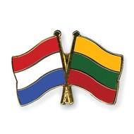 Speldje Nederland Litouwen vlag Vriendschapsspeldje