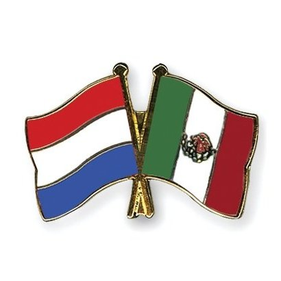 Speldje Nederland Mexico vlag Vriendschapsspeldje