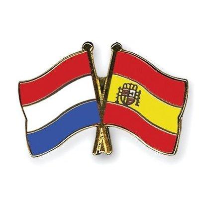 Speldje Nederland Spanje vlag Vriendschapsspeldje