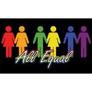 Vlag All Equal Iedereen is Gelijk Vlag