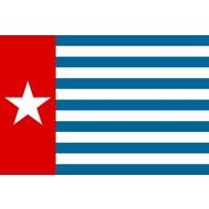Stok- / zwaai-vlag Morgenster vlag west Papua stokvlag