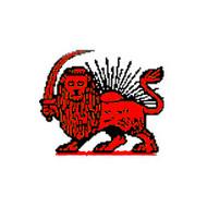 Vlag Iran Persie Rode Leeuw vlag