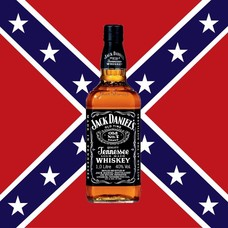 Vlag Confederate Jack Daniels vlag