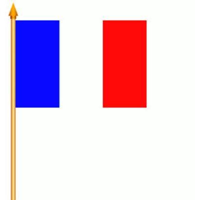 Stok- / zwaai-vlag Frankrijk hand stok zwaai vlag