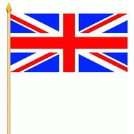 Stok- / zwaai-vlag Union Jack Groot Britannia UK hand stok zwaai vlag