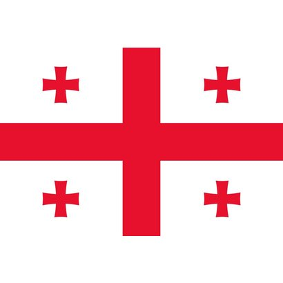 Vlag Georgie Georgia vlag