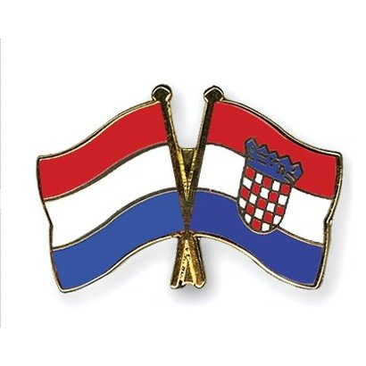 Speldje Nederland Kroatia vlag Vriendschapsspeldje