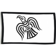 Vlag Black Raven viking flag
