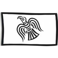 Vlag Zwarte raaf viking vlag