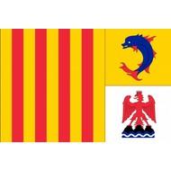 Vlag Alpes Cote de Azur regio vlag