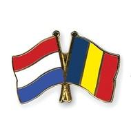 Speldje Netherlands Romania flag Friendship lapel Pin