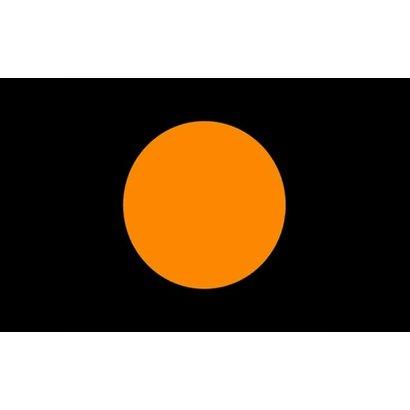 Vlag Black Orange Circle racing flag