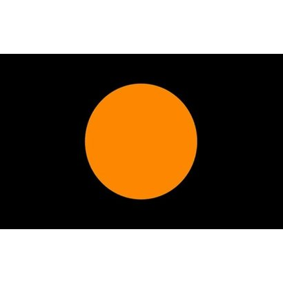 Vlag Zwart Oranje cirkel Racing vlag