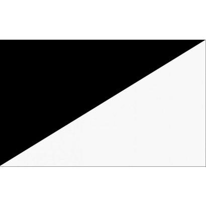 Vlag Black white diagonal racing flag