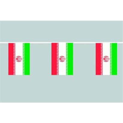 Vlaggenketting Iran flag chain bunting 12m long