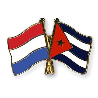 Speldje Nederland Cuba vlag Vriendschapsspeldje