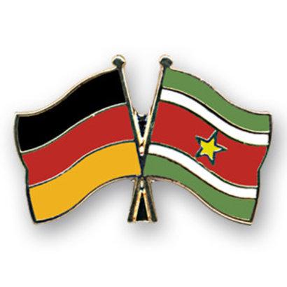 Speldje Germany Suriname flag friendship lapel Pin
