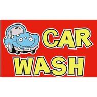 Vlag Car Wash Cartoon flag