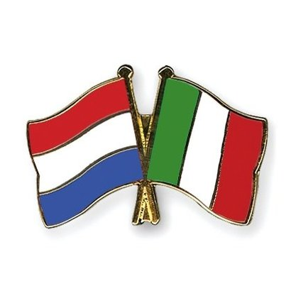 Speldje Netherlands Italy flag Friendship lapel Pin