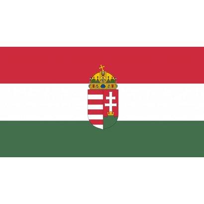 Vlag Hongarije Hongaarse vlag met wapen