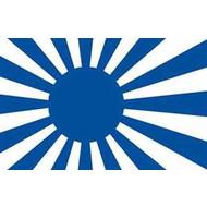 Vlag Japan Rising Sun flag Blue