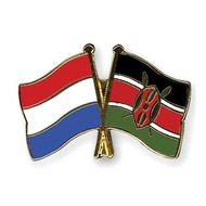 Speldje Netherlands Kenya flag Friendship lapel Pin