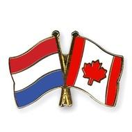 Speldje Netherlands Canada flag Friendship lapel Pin