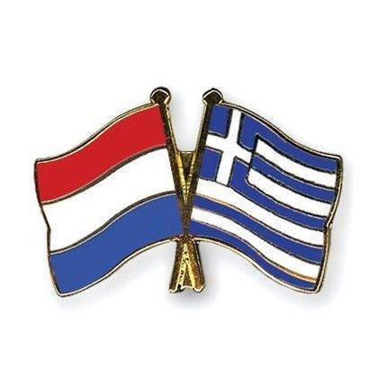Speldje Netherlands Greece flag Friendship lapel Pin